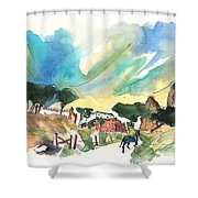 Escalona 01 Shower Curtain