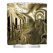 Escape From Cell Block Seven Shower Curtain