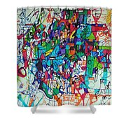 Escape From Hatred 1 Shower Curtain by David Baruch Wolk
