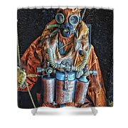 Escape Suit Russian Submarine Sailor Shower Curtain