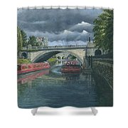 Escaping The Storm North Parade Bridge Bath Shower Curtain