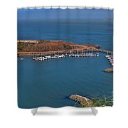 Escobedo Bay Shower Curtain