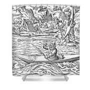 Eskimos Hunting, 1580 Shower Curtain