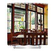 Espresso - Aloha Angel Cafe Shower Curtain