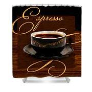 Espresso Passion Shower Curtain
