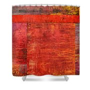 Essence Of Red Shower Curtain by Michelle Calkins