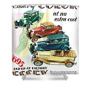 Essex Challenger Vintage Poster Shower Curtain