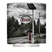 Esso Sign And Pump Shower Curtain