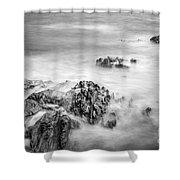 Estacas Beach Galicia Spain Shower Curtain
