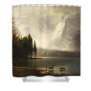 Estes Park Colorado Whytes Lake Shower Curtain