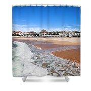 Estoril Beach In Portugal Shower Curtain