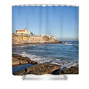 Estoril Coastline In Portugal Shower Curtain