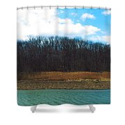 Estuary In Early Spring Shower Curtain
