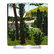 Estuary In Oregon Shower Curtain