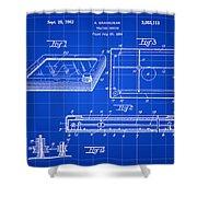 Etch A Sketch Patent 1959 - Blue Shower Curtain