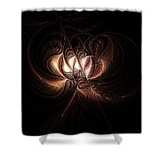 Etched Bloom Shower Curtain
