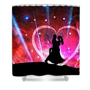 Eternal Love Shower Curtain by Phill Petrovic