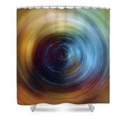 Eternal Spin Art Shower Curtain