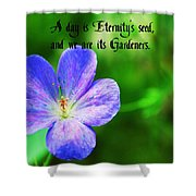 Eternity's Seed Shower Curtain