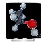 Ethanol Molecular Model Shower Curtain