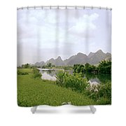Ethereal China Shower Curtain