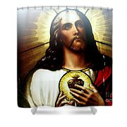 Ethereal Jesus Shower Curtain
