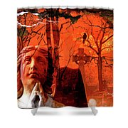 Ethereal Red Shower Curtain