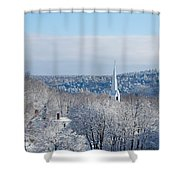 Ethereal Steeple Shower Curtain