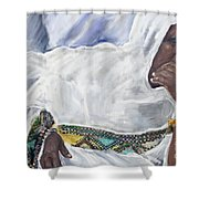 Ethiopian Orthodox Jewish Woman Shower Curtain