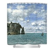Etretat. The Cliff Of Aval Shower Curtain