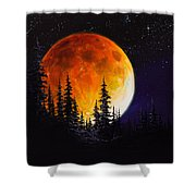 Ettenmoors Moon Shower Curtain by C Steele