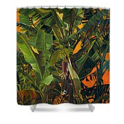 Eugene And Evans' Banana Tree Shower Curtain