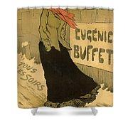 Eugenie Buffet Poster Shower Curtain