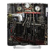 Eureka Ferry Steam Engine Controls - San Francisco Shower Curtain