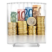 Euro Currency Shower Curtain