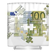 Euro Puzzle Shower Curtain