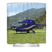 Eurocopter Ec130 Light Utility Shower Curtain