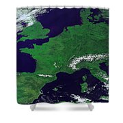 Europe From Above Shower Curtain