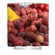 European Markets - Peaches And Nectarines Shower Curtain