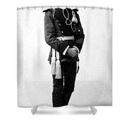 European Officer, 1890s Shower Curtain