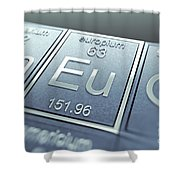 Europium Chemical Element Shower Curtain