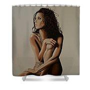 Eva Longoria Painting Shower Curtain