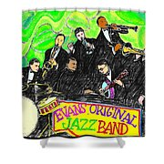 Evans Original Jazz Band Shower Curtain
