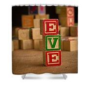 Eve - Alphabet Blocks Shower Curtain