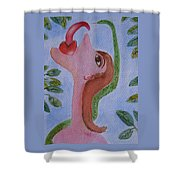 Eve And The Snake Shower Curtain