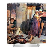 Eve Of Saint Agnes The Flight Of Madelein The Drunkenness Attending The Revelry Shower Curtain