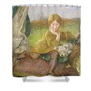 Evelyn Shower Curtain by Annie Louisa Swynnerton