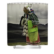 Evelyn In Color Shower Curtain
