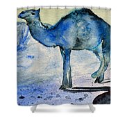 Even Camels Get The Blues Shower Curtain