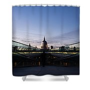 Even The Clouds Aligned With St Paul's Cathedral And The Millennium Bridge - London Shower Curtain